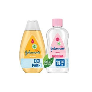 Johnsons Baby Şampuan 200ml + Bebek Yağı 200ml 2li Kofre