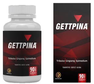 Gettpina - Tribulus, Gingseng ve Epimedium içeren Gıda Takviyesi 90 Tablet